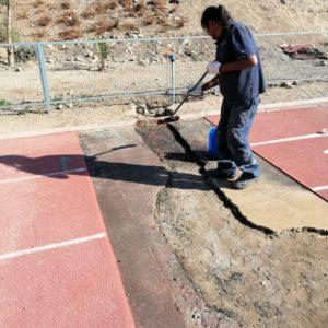 Reparación Pista Atlética Colegio Santa Úrsula